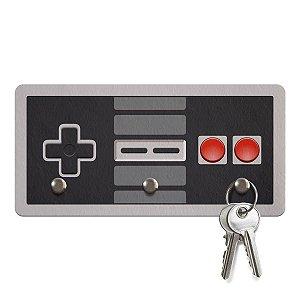 Porta Chaves Ecológico Gamer Joystick Nintendo NES 8-bits