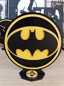 Brasão em MDF Colorido DC Batman - Logo 14,5 x 15,0 cm