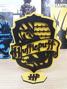 Brasão em MDF Colorido Harry Potter - Lufa-lufa 14,5 x 15,0 cm