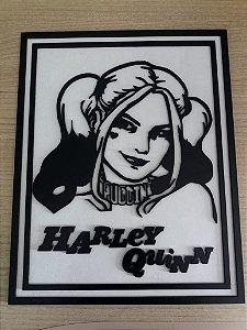 Quadro em MDF P&B DC Harley Quinn 20,0 x 30,0 cm