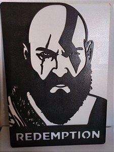 Quadro em MDF P&B God Of War - Kratos 20,0 x 30,0 cm
