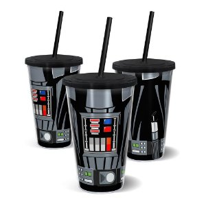 Copo Canudo Parede Dupla Star Wars - Darth Vader - 500ml