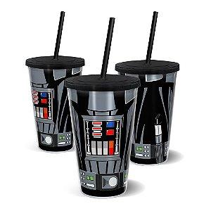 Copo Canudo Parede Dupla Star Wars - Darth Vader - 500ml