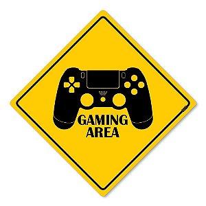 Placa Decorativa Gamer Gaming Area 30 x 30 cm