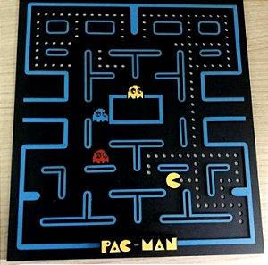Quadro em MDF Colorido PacMan 30 x 30 cm