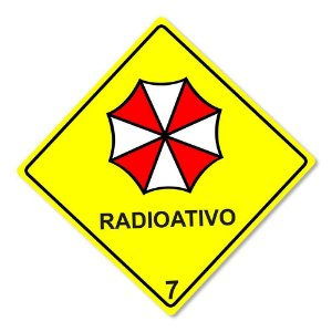 Placa Decorativa Resident Evil Biohazard Umbrella Corp 30 x 30 cm