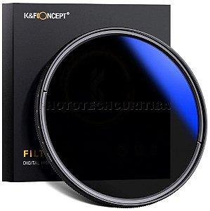 Filtro ND Variável 55mm K&F Concept Densidade Neutra 2-400 KF01-1387