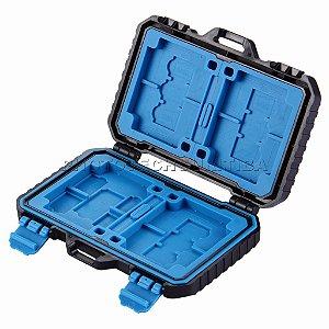 Porta Cartão de Memoria Puluz Pu5002 á Prova D'água para 8 Sd 4C f e 9 Micro Sd