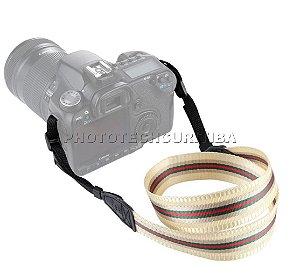 Alça Para Câmera Fotográfica DSLR Puluz Retro Listras PU6010Q