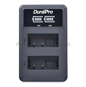 Carregador de Bateria Canon LP-E17 Led Duplo DuraPro Modelo LC-E17