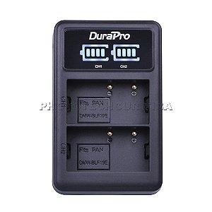 Carregador de Bateria Panasonic DMW-BLF19E Led Duplo DuraPro