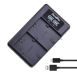 Carregador de Bateria Sony NP-FZ100 Led Duplo DuraPro