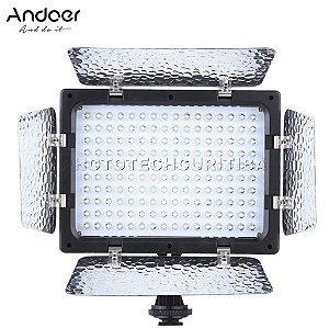 Iluminador de Led Andoer W160 6000k Com Aba