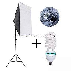 Kit Iluminação Softbox 50X70 +Tripé + Lâmpada 150w 110v