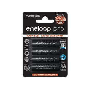 PILHA RECARREGÁVEL ENELOOP PRO AA C/4 2550 MAH ORIGINAL MADE IN JAPAN