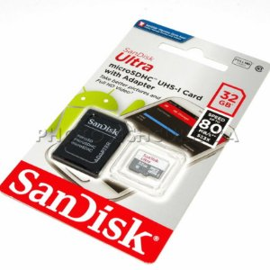 CARTÃO MICRO SD SANDISK ULTRA 32GB CLASS 10 80 MB/s
