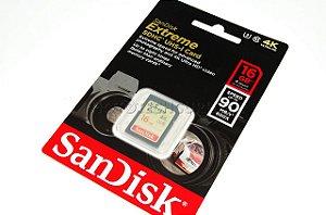 CARTÃO SD SANDISK EXTREME 16GB  CLASS 10 90 MB/s