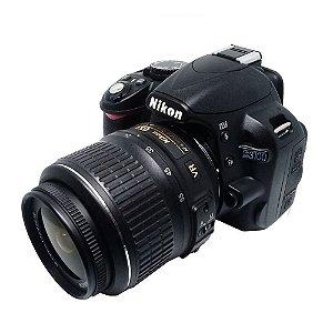 (VENDIDA) CÂMERA NIKON D3100 COM OBJETIVA 18-55mm