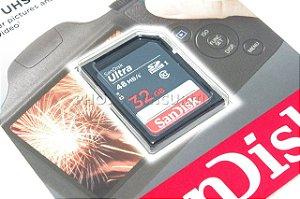 CARTÃO SD SANDISK ULTRA 32GB CLASS 10 48 MB/s SDHC UHS-I ORIGINAL