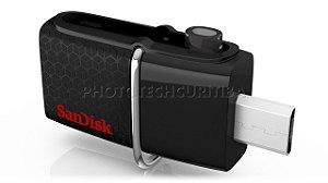 PEN DRIVE SANDISK DUAL DRIVE 16GB USB MICRO USB 3.0 130MB/s ORIGINAL LACRADO