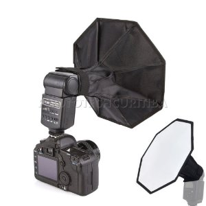 SOFT BOX OCTAGONAL 30cm PARA FLASH DEDICADO