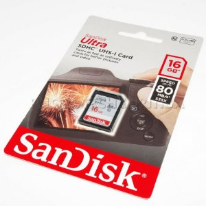 Cartão SD Sandisk Ultra 16GB Class 10 80 MB/s SDHC UHS-I Original