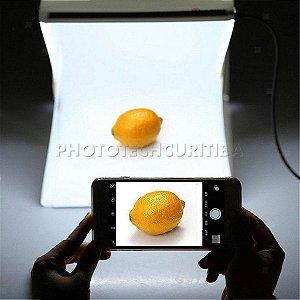 MINI STUDIO FOTOGRÁFICO 20cm COM 20 LEDS