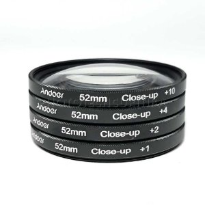 KIT FILTRO CLOSE-UP 52mm +1 +2 +4 +10 ANDOER