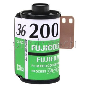 FILME FOTOGRÁFICO FUJIFILM 36 POSES ISO 200 FUJICOLOR C200