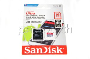 CARTÃO MICRO SD SANDISK ULTRA 16GB CLASS 10 98 MB/s MICROSDHC UHS-I A1 FULL HD ORIGINAL