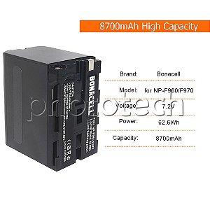 BATERIA SONY NP-F960/F970 BONACELL 8700mAh 7.2V