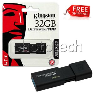 PEN DRIVE KINGSTON DATATRAVELER 100 32GB USB 3.0 100MB/s