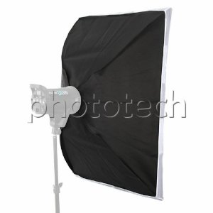 SOFTBOX 90X90 GREIKA F300 PARA FLASH DE ESTUDIO