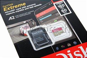 CARTÃO MICRO SD SANDISK EXTREME 64GB CLASS 10 160 MB/s MICROSDXC UHS-I 4K UHD ORIGINAL