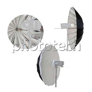 Sombrinha 100cm Softbox White Bounce Greika Rus100 Para Estúdio Fotográfico