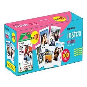 Filme Instax Mini Kit Com 100 Fotos ISO 800 Fujifilm Instantâneo