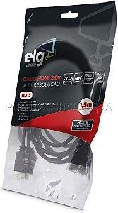 CABO HDMI 2.0v 3D READY 4K 1,5 Metro ELG HD15