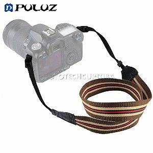 Alça Para Câmera Fotográfica DSLR Puluz Retro Listras PU6009D