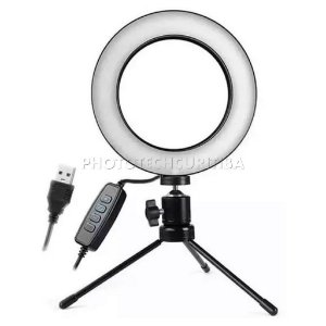 Iluminador de Led Ring Light 16cm 48 Led + Mini Tripé