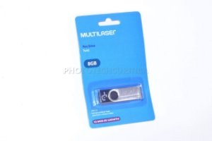Pen Drive Multilaser Twist 8GB USB 10MB/s PD587 Original Lacrado