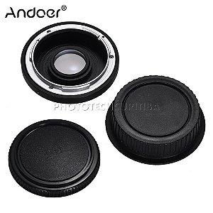 Adaptador De Lente Canon FD Para Canon EOS Com Elemento FD-EOS Andoer