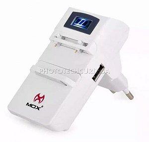 Carregador De Bateria Universal Digital Rápido Mox MO-U62