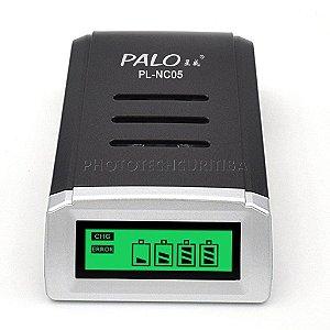 Carregador de Pilha Digital Inteligente AAA/AA Palo PL-NC05