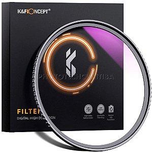 Filtro Uv 62mm K&F Concept Filtro Ultra Violeta KF-K62