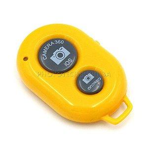 Controle Remoto Bluetooth Para Celular Amarelo