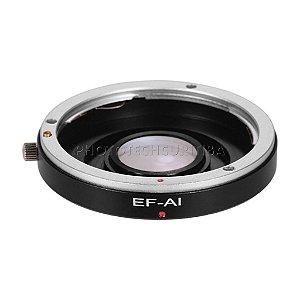 Adaptador de Lente Canon EOS EF/EFS Para Nikon Com Elemento EOS-AI Andoer