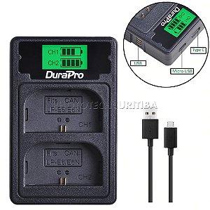 Carregador de Bateria Canon LP-E6 Duplo Digital DuraPro Modelo LC-E6
