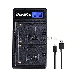 Carregador de Bateria Sony NP-F550/F570/F770/F950/F970 Duplo Digital DuraPro