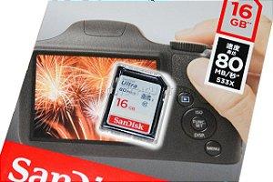 Cartão SD Sandisk Ultra 16GB Class 10 80 MB/s SDHC UHS-I Original CH