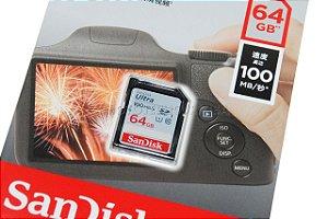 Cartão SD Sandisk Ultra 64GB Class 10 100 MB/s SDXC UHS-I Original CH